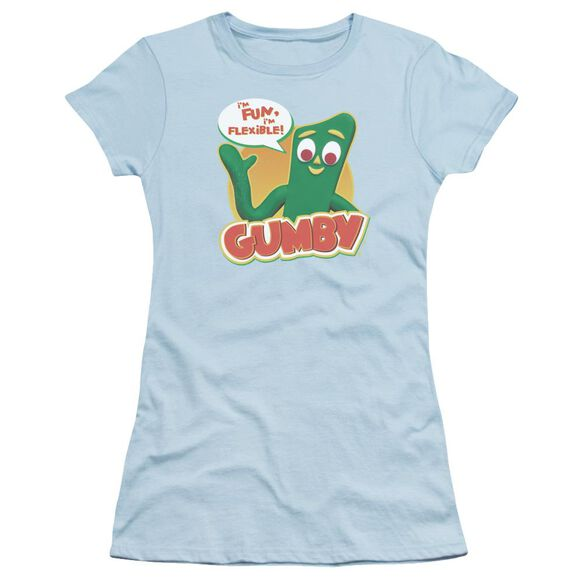 Gumby Fun & Flexible Short Sleeve Junior Sheer Light T-Shirt