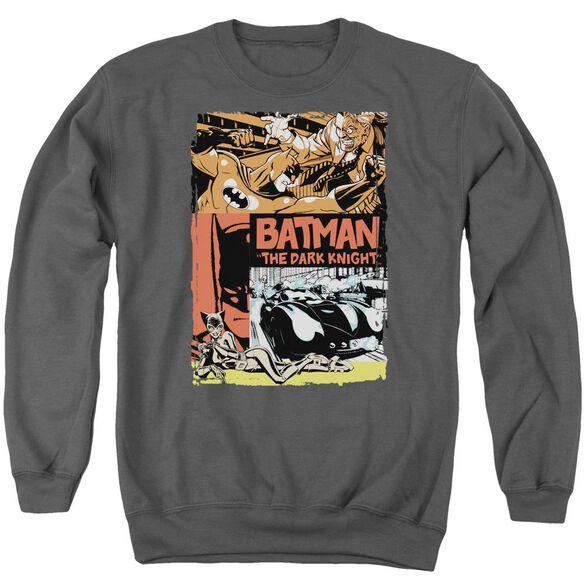 Batman Old Movie Poster Adult Crewneck Sweatshirt