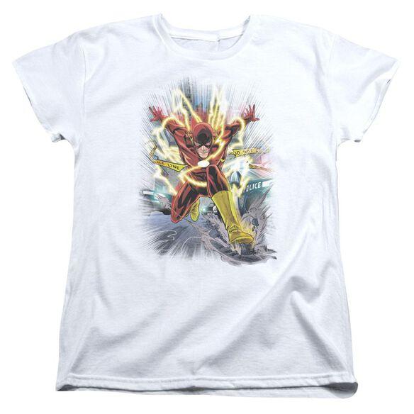 Jla Brightest Day Flash Short Sleeve Womens Tee T-Shirt