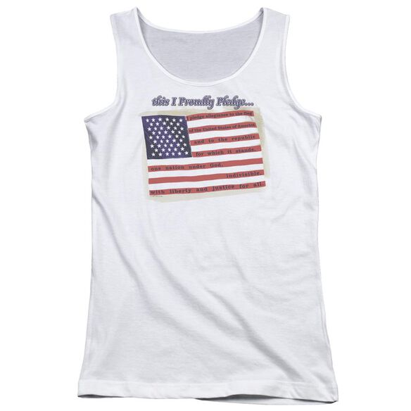Proudly Pledge Juniors Tank Top