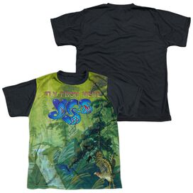 Yes Fly From Here Short Sleeve Youth Front Black Back T-Shirt