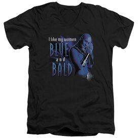 Farscape Blue And Bald Short Sleeve Adult V Neck T-Shirt