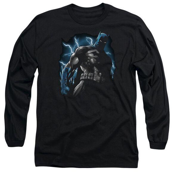 Batman Gotham Lightning Long Sleeve Adult T-Shirt