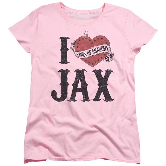 Sons Of Anarchy I Heart Jax Short Sleeve Womens Tee T-Shirt