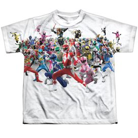 Power Rangers Ranger Overload Short Sleeve Youth Poly Crew T-Shirt