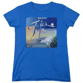 Zz Top Tejas Short Sleeve Womens Tee Royal T-Shirt