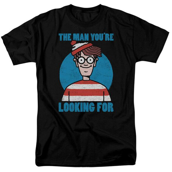 Wheres Waldo Looking For Me Short Sleeve Adult T-Shirt