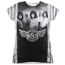 Reo Speedwagon Want A Ride Short Sleeve Junior Poly Crew T-Shirt