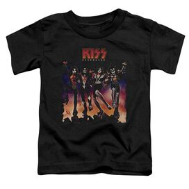 Kiss Destroyer Cover Short Sleeve Toddler Tee Black T-Shirt