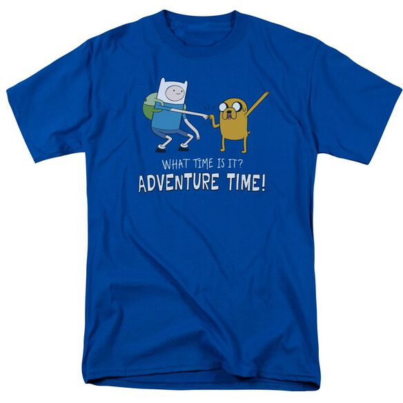 Adventure Time Fist Bump Short Sleeve Adult Royal T-Shirt