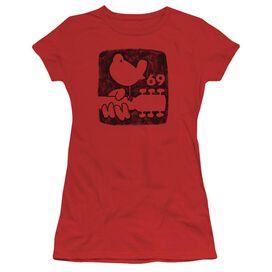 Woodstock Summer 69 Short Sleeve Junior Sheer T-Shirt