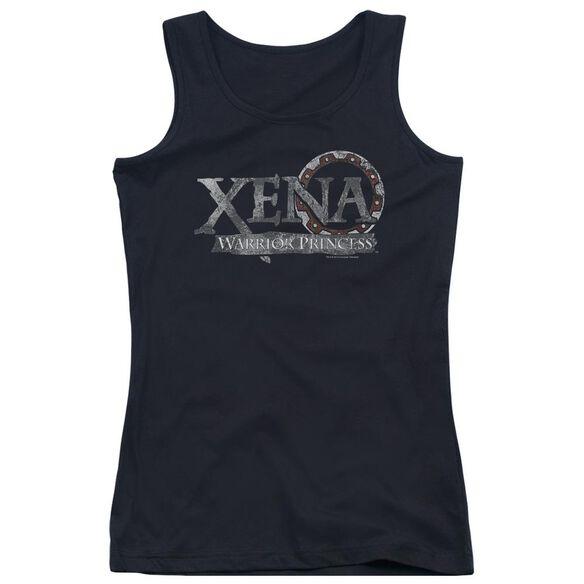 Xena Battered Logo Juniors Tank Top