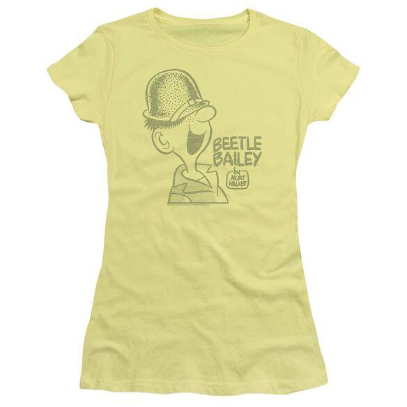 Beetle Bailey Vintage Beetle Short Sleeve Junior Sheer T-Shirt