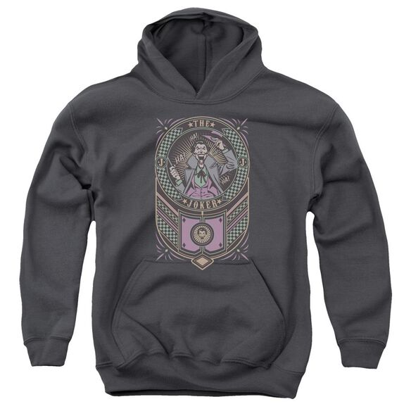 Batman Joker Checkered Sign Youth Pull Over Hoodie