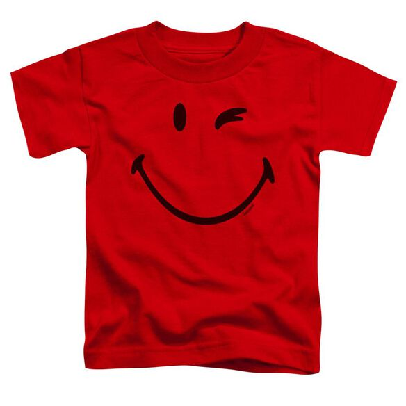 Smiley World Big Wink Short Sleeve Toddler Tee Red T-Shirt