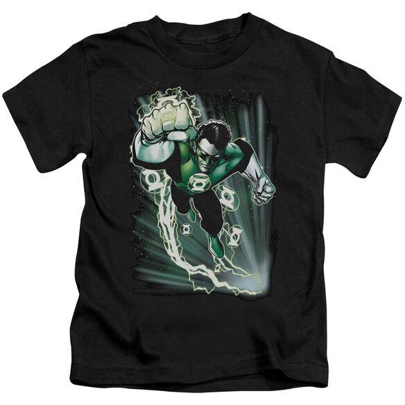 Jla Emerald Energy Short Sleeve Juvenile Black T-Shirt