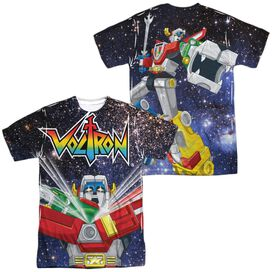 Voltron Space Defender (Front Back Print) Short Sleeve Adult Poly Crew T-Shirt