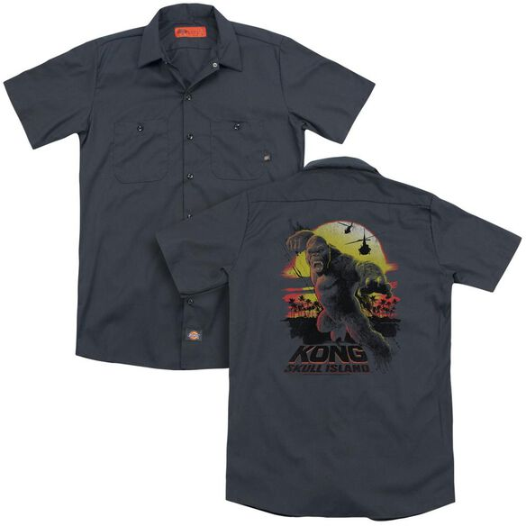 Kong Skull Island Kong Sunset (Back Print) Adult Work Shirt