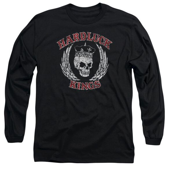 Hardluck Kings Red Letter Distressed Long Sleeve Adult T-Shirt