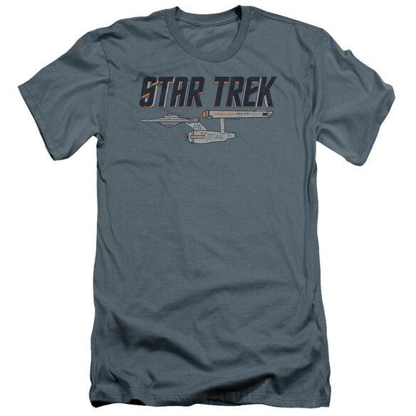 Star Trek Entreprise Logo Premuim Canvas Adult Slim Fit