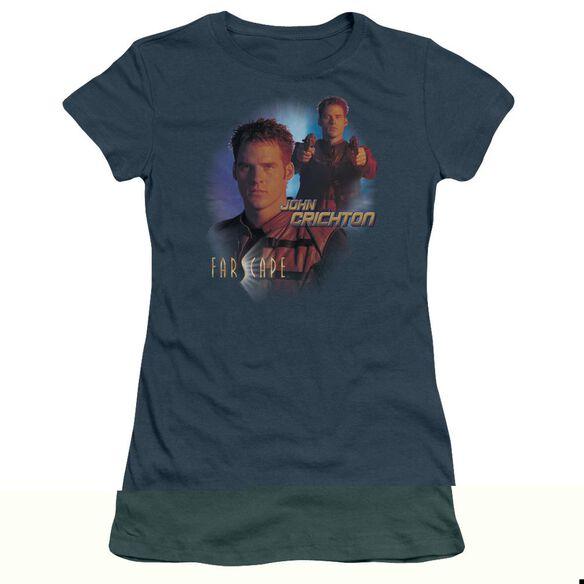 FARSCAPE JOHN CRICHTON - S/S JUNIOR SHEER - INDIGO T-Shirt