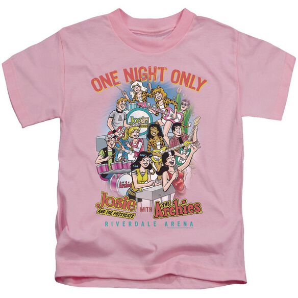 Archie Comics One Night Only Short Sleeve Juvenile Pink T-Shirt