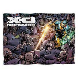 Xo Manowar Legion (Front Back Print) Poly 20 X28 Pillow Case White