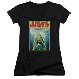 Jaws Bright Jaws Junior V Neck T-Shirt