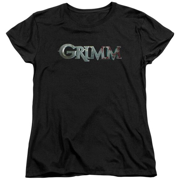Grimm Bloody Logo Short Sleeve Womens Tee T-Shirt