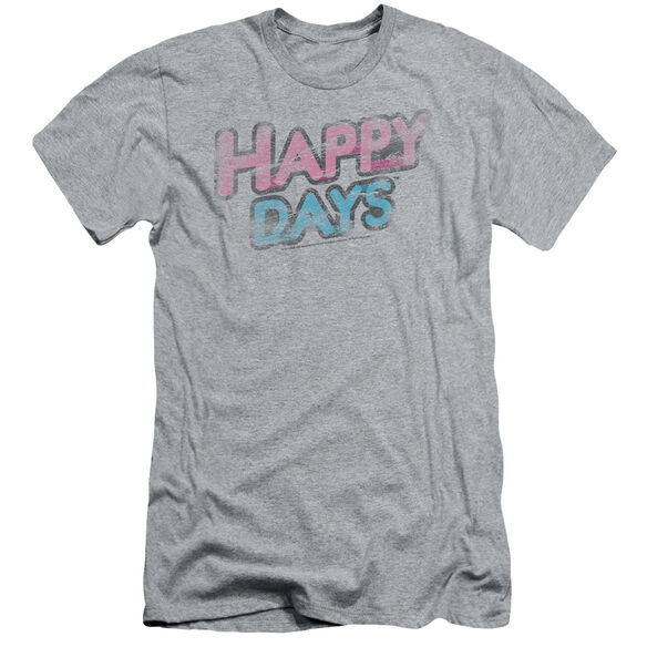 HAPPY DAYS DISTRESSED - S/S ADULT 30/1 - ATHLETIC HEATHER T-Shirt