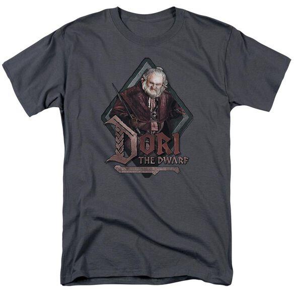 The Hobbit Dori Short Sleeve Adult Charcoal T-Shirt