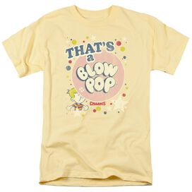 Tootsie Roll That's A Blow Pop Short Sleeve Adult Banana T-Shirt