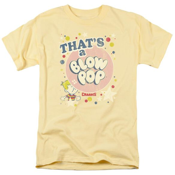 Tootsie Roll That's A Blow Pop Short Sleeve Adult Banana T-Shirt