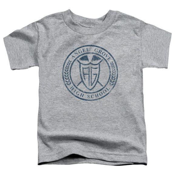 Power Rangers Angel Grove Hs Short Sleeve Toddler Tee Athletic Heather T-Shirt