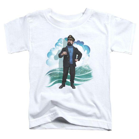 Tintin Haddock Short Sleeve Toddler Tee White Sm T-Shirt
