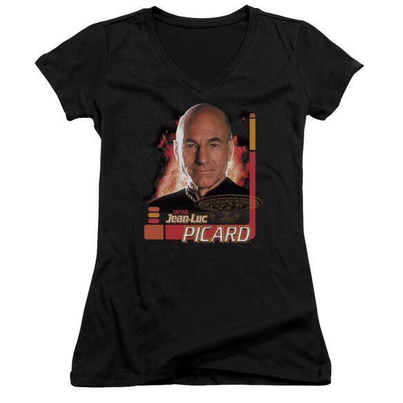 Star Trek Captain Picard Junior V Neck T-Shirt