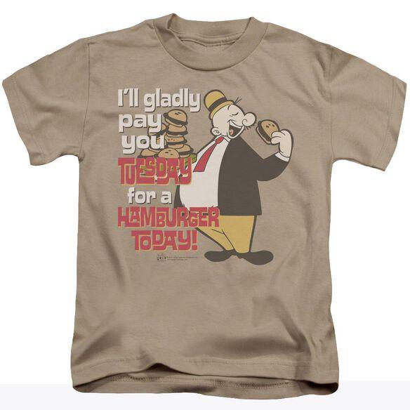 Popeye Tuesday Short Sleeve Juvenile T-Shirt