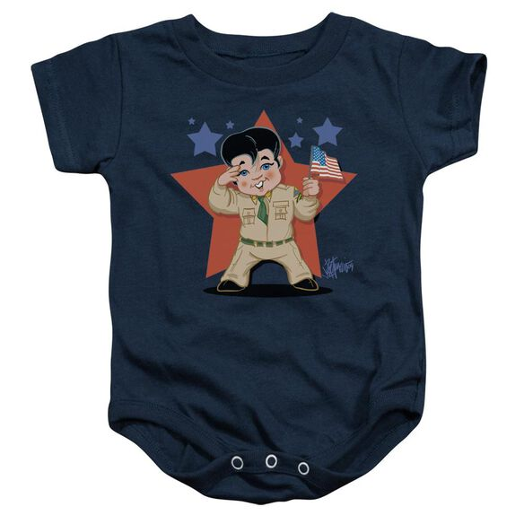 Elvis Lil G I Infant Snapsuit Navy Xl