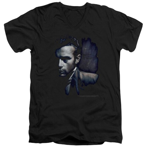 Dean In Shadow Short Sleeve Adult V Neck T-Shirt