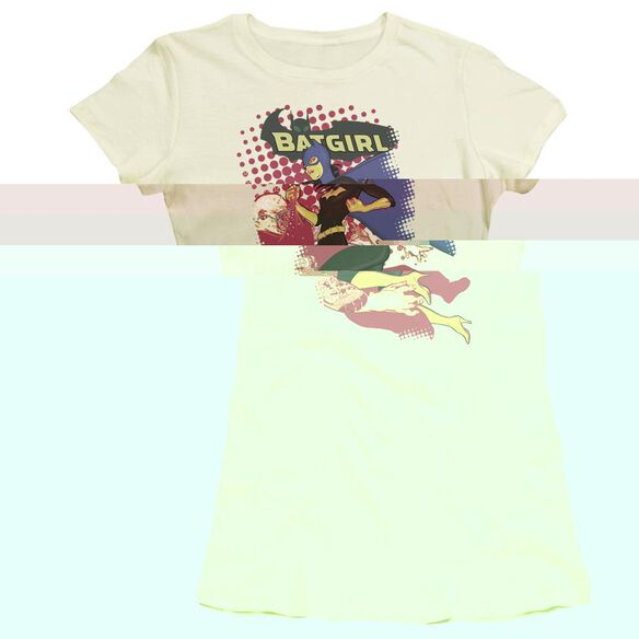 BATMAN BATGIRL CRUNCH - S/S JUNIOR SHEER - CREAM T-Shirt