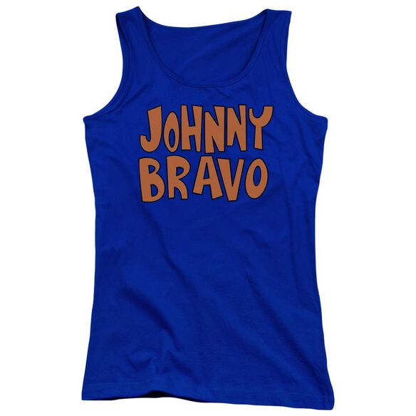 Johnny Bravo Jb Logo Juniors Tank Top Royal