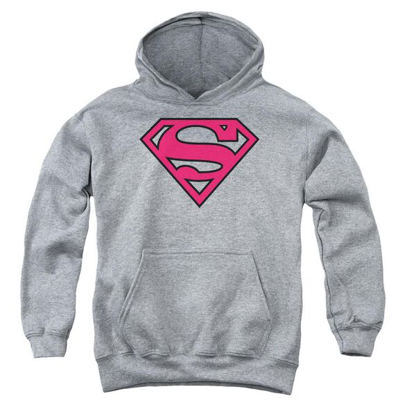 Superman Red & Black Shield Youth Pull Over Hoodie
