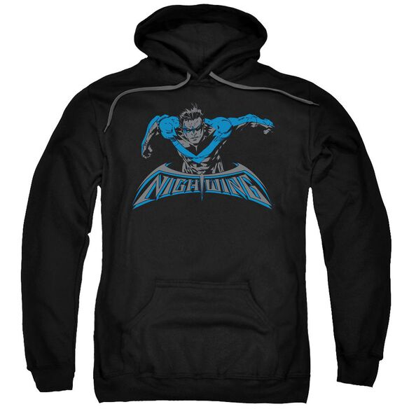 Batman Wing Of The Night Adult Pull Over Hoodie Black