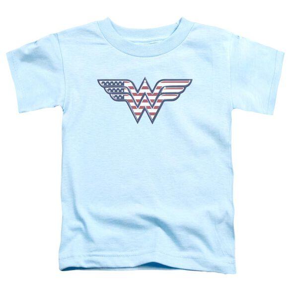 Dc Red,White & Blue Short Sleeve Toddler Tee Light Blue Lg T-Shirt
