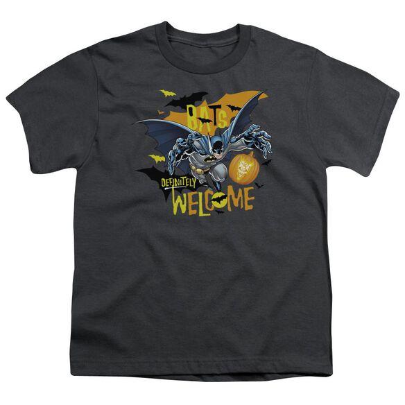Batman Bats Welcome Short Sleeve Youth T-Shirt