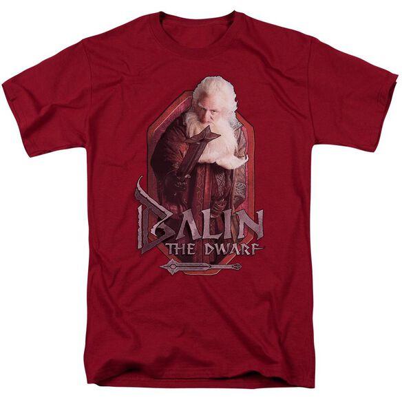 The Hobbit Balin Short Sleeve Adult Cardinal T-Shirt