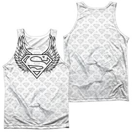 Superman Winged Shield Repeat Adult 100% Poly Tank Top