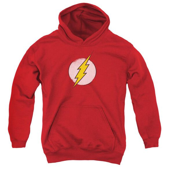 Dc Flash Rough Flash Logo Youth Pull Over Hoodie