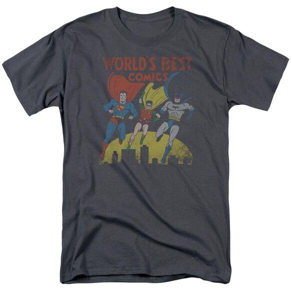 Jla Worlds Best Short Sleeve Adult T-Shirt