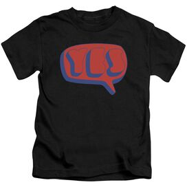 Yes Word Bubble Short Sleeve Juvenile Black T-Shirt